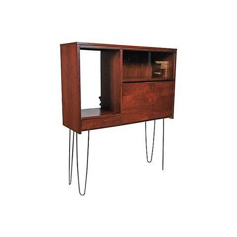 1960s Walnut Cabinet with Hairpin Legs - Image 3 of 6