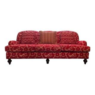 Original Pierre Deux Red Three Seat Sofa For Sale