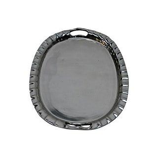 Polished Aluminum Oval Tray