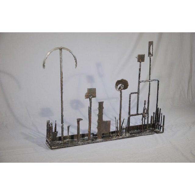 Metal 1960's Brutalist Welded Steel Sculpture For Sale - Image 7 of 9