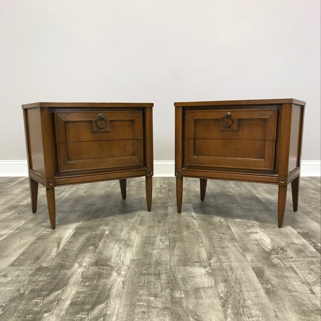 Basic Witz Mid Century Nightstands - a Pair - Image 2 of 11