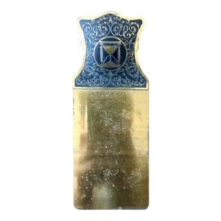 1930's Brass Enamel Hourglass Clipboard For Sale