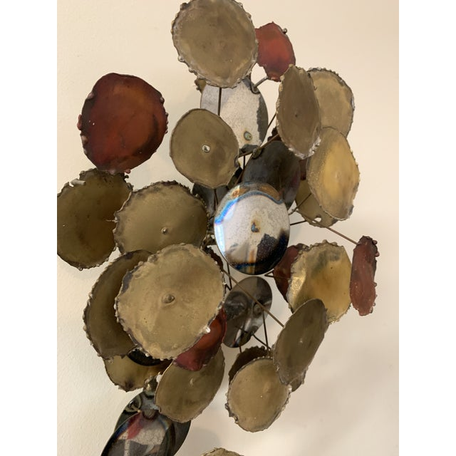 """Metal Vintage 1979 """"Raindrops"""" Sculpture in the Manner of Curtis Jere For Sale - Image 7 of 13"""