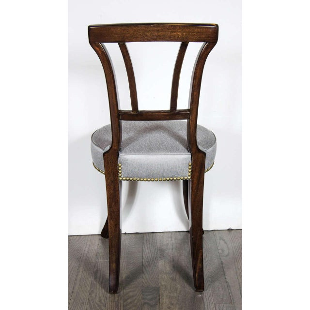 Pair of 1940s Hollywood Greek Key Occasional Chairs by Grosfeld House For Sale In New York - Image 6 of 7