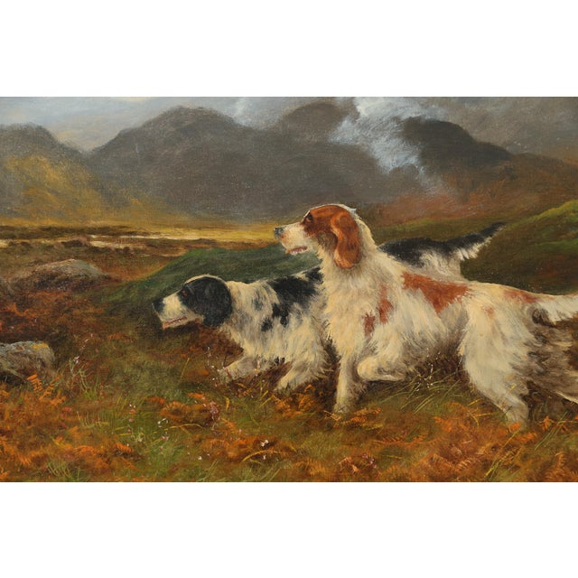 Late 19th Century Antique Sporting Dogs Oil Painting, Robert Cleminson (Active 1864-1903) For Sale - Image 5 of 9
