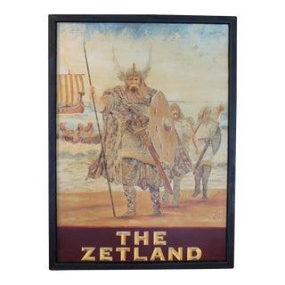 """""""The Zetland"""" Pub Sign For Sale"""