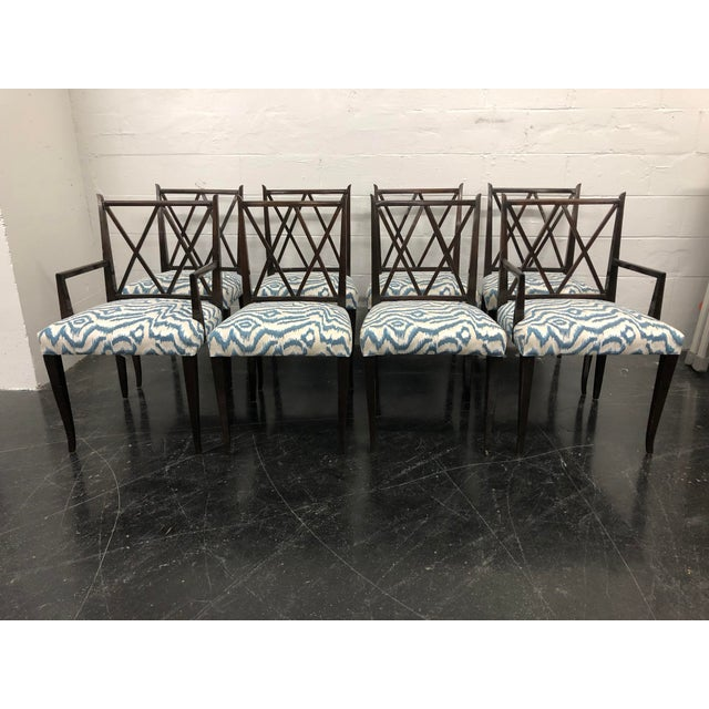 20th Century Tommi Parzinger Dining Chairs- Set of 8 For Sale - Image 11 of 11