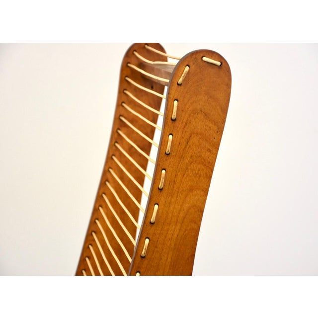 Wood Tubbs Modern Low Lounge Chair Designed by Carl Koch For Sale - Image 7 of 8