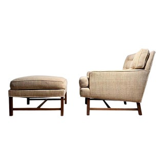 Elegant Edward Wormley Lounge Chair with Ottoman for Dunbar For Sale
