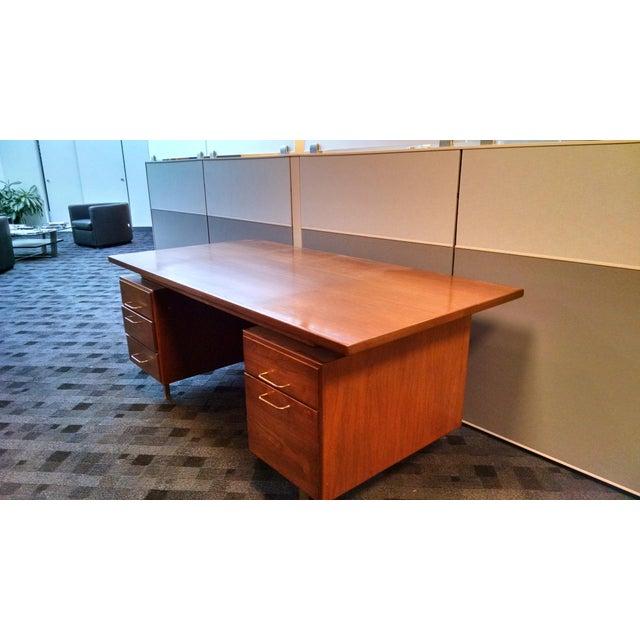 Jens Risom Floating Executive Desk - Image 3 of 6
