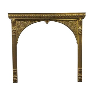 Antique Brass Fireplace Insert For Sale
