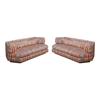 1970s Mid-Century Modern Hexagonal Sofas by Bernhardt - a Pair For Sale