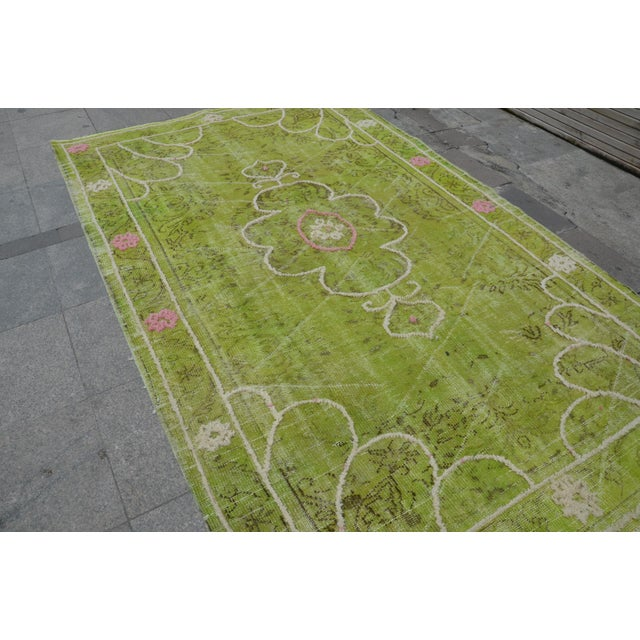 "Turkish Oushak Rug - 8'8"" x 5'5"" - Image 7 of 7"