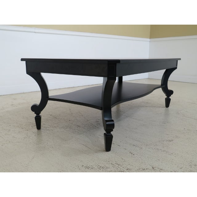 Stanley Black Casual Design Coffee Table Age: Approx: 5 Years Old Details: Black - Light Factory Distressed Quality...