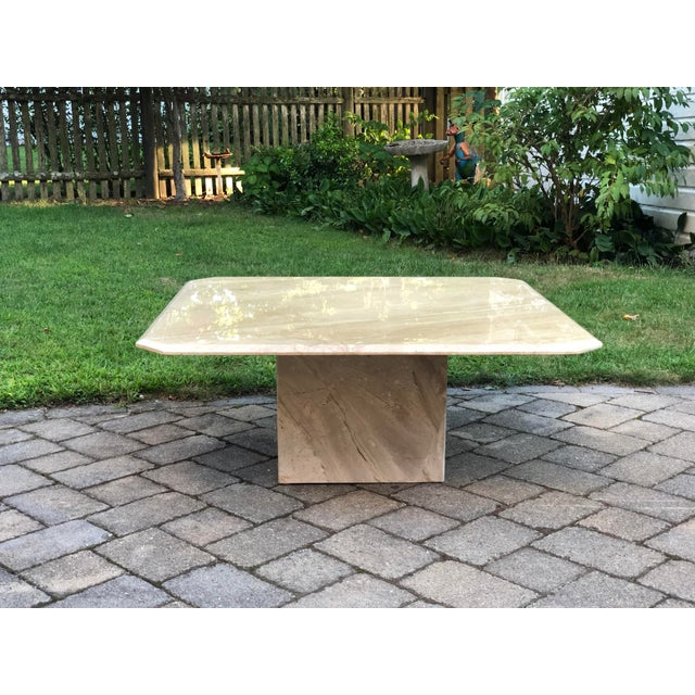 Art Deco Italian Travertine Coffee Table For Sale - Image 13 of 13