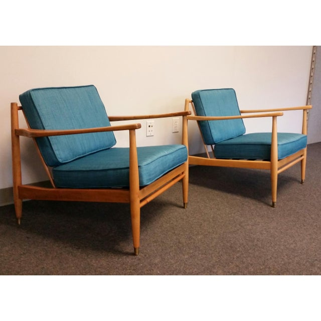 Baumritter Styled Mid-Century Lounge Chairs - Pair - Image 2 of 8