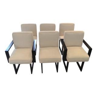 1980s Vintage Vladimir Kagan Nobu Dining Chairs - Set of 6 For Sale