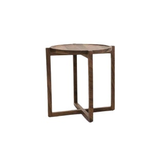 Boton Three Side Table, Conacaste Solid Wood For Sale