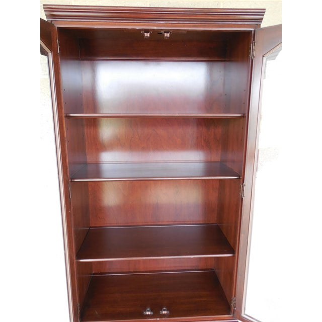 Ethan Allen Georgian Court Bookcase For Sale - Image 7 of 9