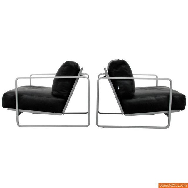 Pair of Zonatta Leather Lounge Chairs by Alfredo W. Häberli & Christophe Marchand - Image 2 of 8