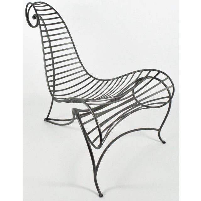 Mid-Century Modern Early 20th Century Andre Dubreuil Iron Spine Chair For Sale - Image 3 of 8