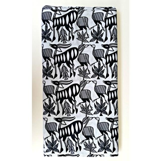 Black & White African Print Fabric - 1 Yard - Image 5 of 6