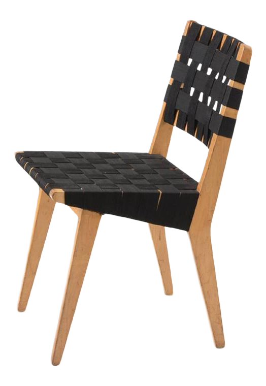 Original 1952s Webbed Wood Side Chair By Jens Risom For Knoll   Image 1 Of 5