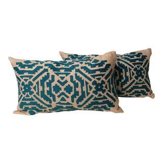 Ikat Bolster Pillows - A Pair