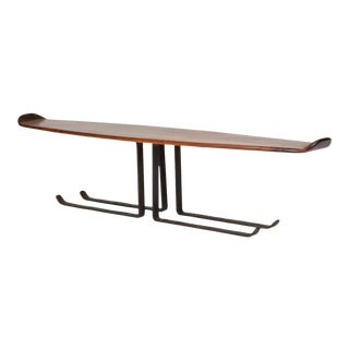 Bronze and Walnut Coffee Table by Leland Swennes For Sale