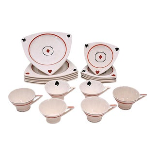 Playing Card Dish Set
