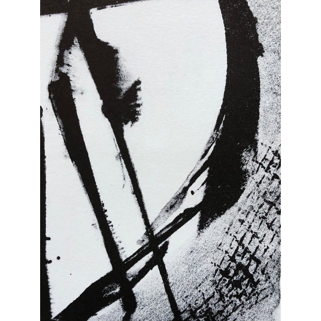 White Jerry Opper Mid Century Abstract Stone Lithograph For Sale - Image 8 of 10