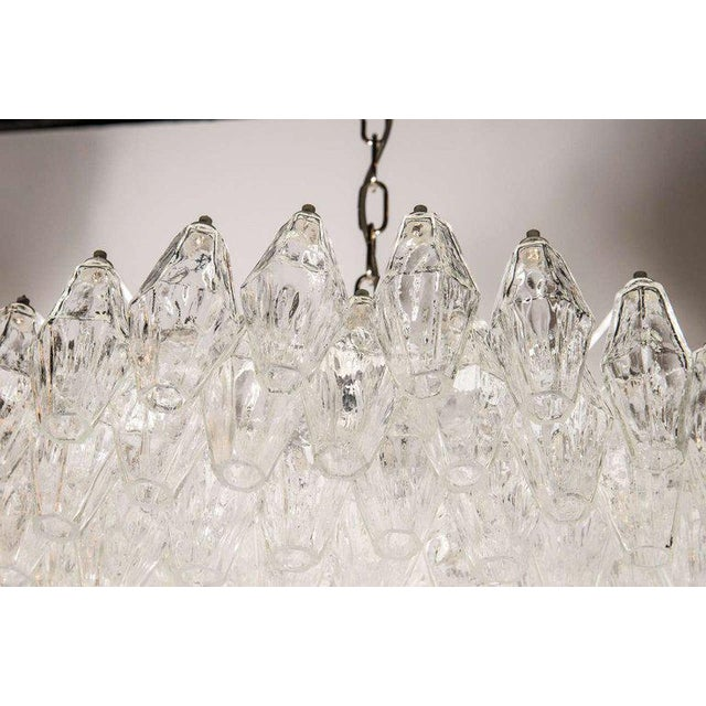 Murano, Venini & Co. Modernist Handblown Translucent Murano Glass Polyhedral Chandelier For Sale - Image 4 of 8