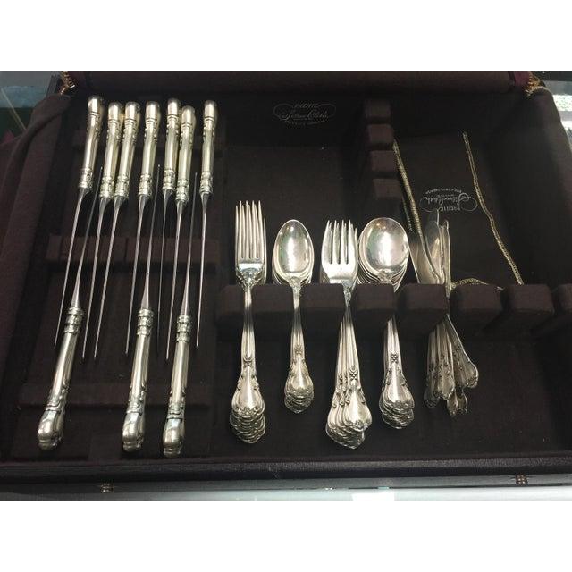 Gorham Chantilly Sterling Flatware Set For Sale - Image 11 of 12
