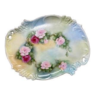 Late 19th C. Antique R. Delinières L. Bernardaud & Co. Limoges Floral Platter For Sale