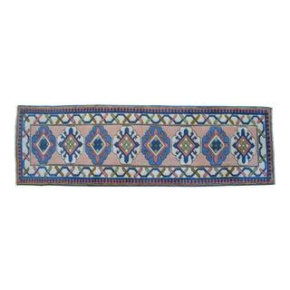 Hand-Knotted Turkish Runner Rug. OushakRunner 2′9″ × 9′1″ For Sale