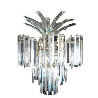 Glistening Lucite Chandelier