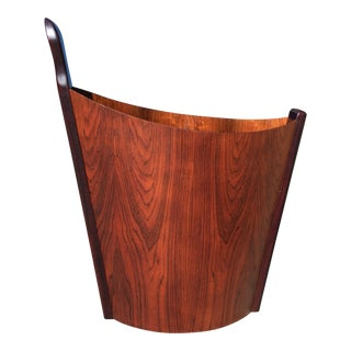 Vintage Westnofa Rosewood Waste Basket For Sale