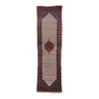 Antique Persian Malayer Carpet Runner, 20 Ft Long Persian Runner with Camel Hair For Sale
