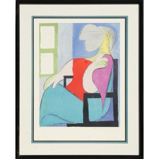 Femme Assise Pres d'Une Fenetre by Pablo Picasso 1979-1982 For Sale