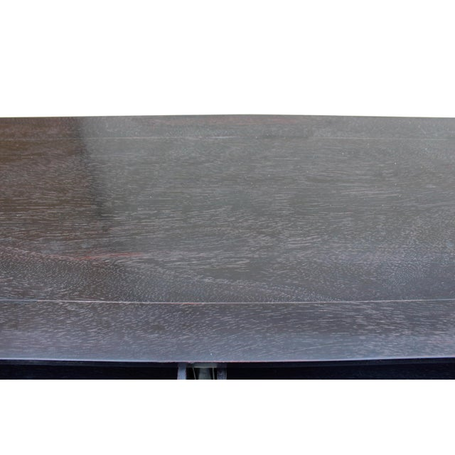 Chinese Dark Brown Black Huali Rosewood Plain Ming Style Altar Table For Sale In San Francisco - Image 6 of 10