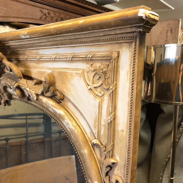 Late 19th Century Antique French Wood & Plaster Mirror For Sale - Image 5 of 11