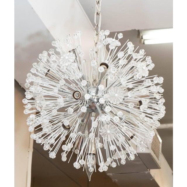 A 'snowball' Sputnik chandelier by Austrian designer Emil Stejnar and produced by Rupert Nikoll circa 1960s, nucleus, arms...