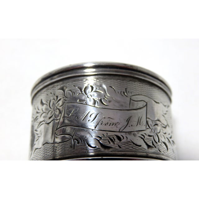 Antique American Coin Silver Napkin Ring. For Sale - Image 4 of 5