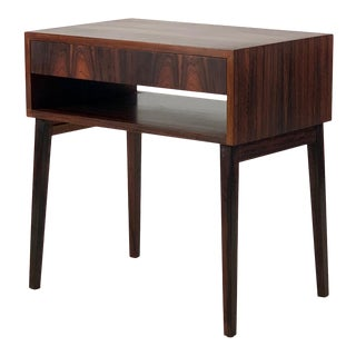 1960s Vintage Danish Rosewood Bedside Table For Sale