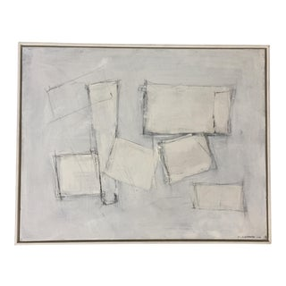 Rectilinear Abstract Painting in Greys