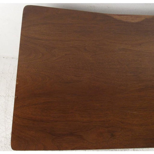 Walnut Vintage American Filing Drawer Walnut Desk For Sale - Image 7 of 10