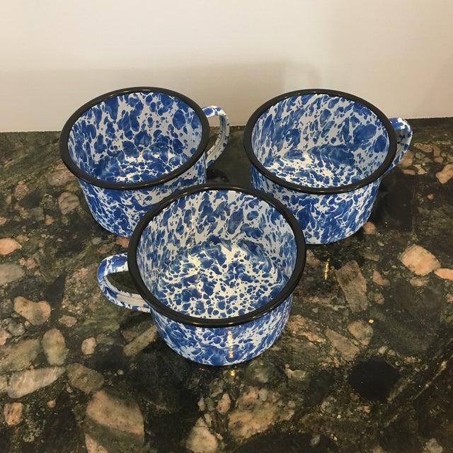 Enamel Spatterware Mugs - Set of 3 - Image 8 of 10
