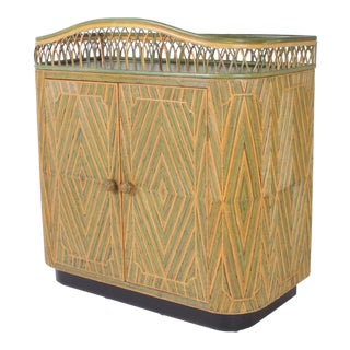 Art Deco Rattan Bar or Server For Sale