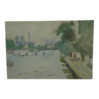 """Frederick McDuff Original """"Through the Park"""" Painting on Board"""