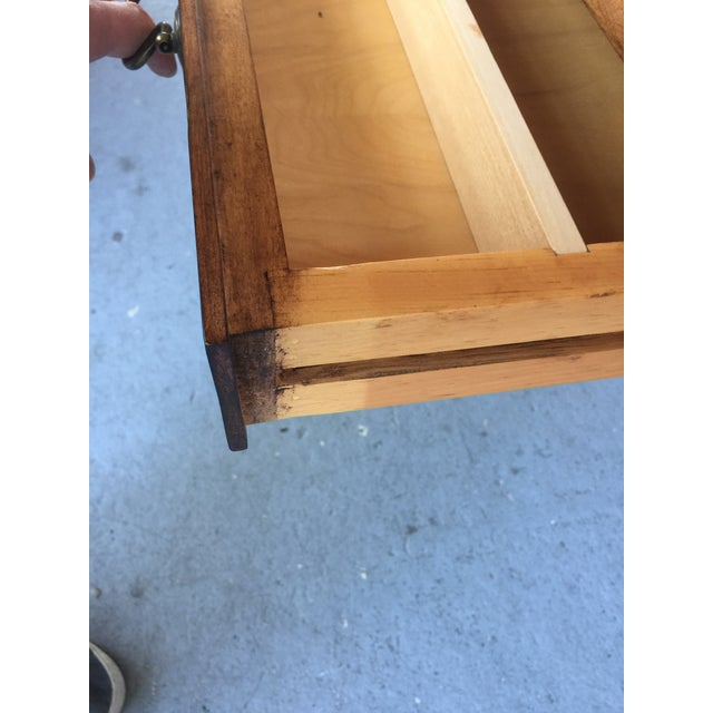 Brown French Provincial Style Writing Desk For Sale - Image 8 of 10